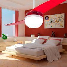 Ventilador-de-Teto-Spirit-202-Vermelho-Lustre-Globo