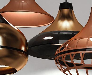 Luminárias Pendentes Combine Spirit Bronzes