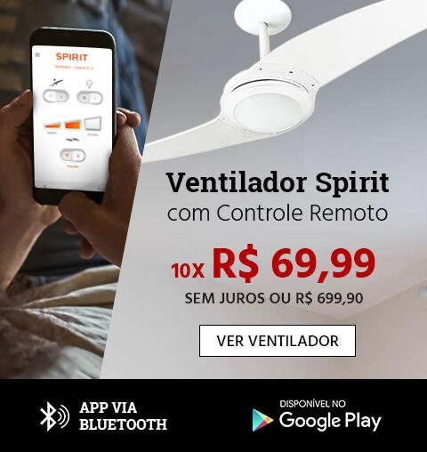 Ventiladores de Teto com controle remoto por aplicativo via bluetooth