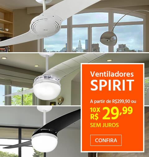 Ventiladores de Teto SPIRIT a partir de R$299,90
