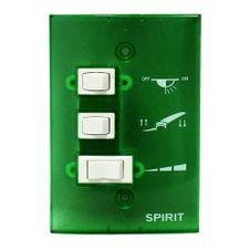 Controle-de-Parede-Ventilador-de-Teto-Spirit-Verde