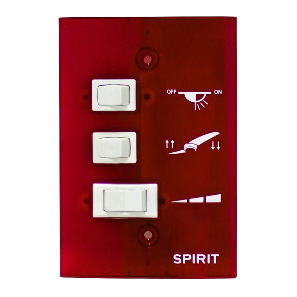 Controle-de-Parede-Ventilador-de-Teto-Spirit-Vermelho
