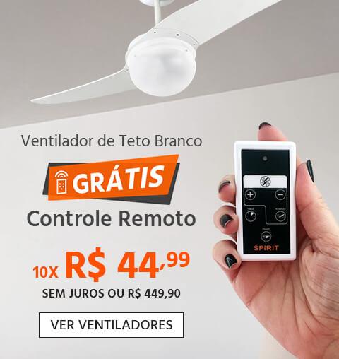 Ventilador de Teto 202 Branco GRÁTIS Controle Remoto SPIRIT