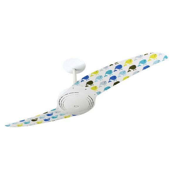Ventilador-de-Teto-Spirit-200-Menina-Baleias-Coloridas-L46-Sem-Lustre
