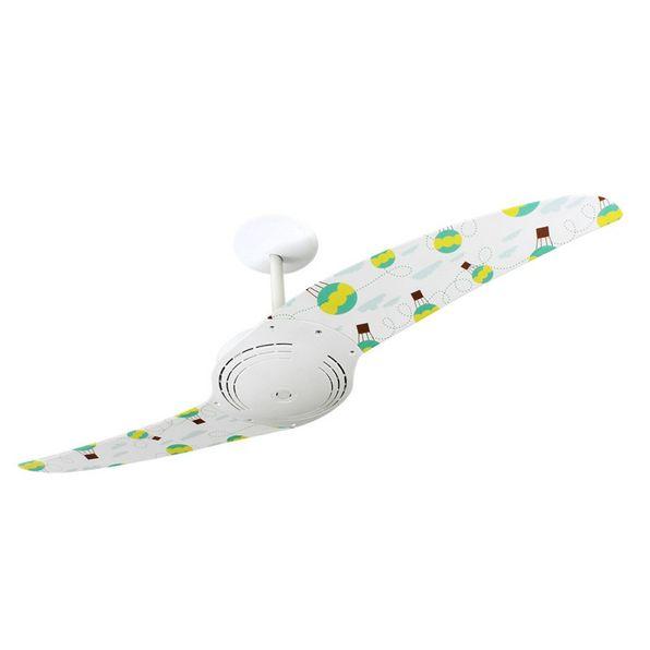 Ventilador-de-Teto-Spirit-200-Menina-Baloes-L66-Sem-Lustre
