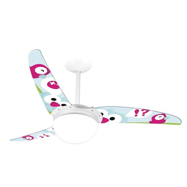 Ventilador-de-Teto-Spirit-302-Menina-Corujinhas-R9-Lustre-Globo