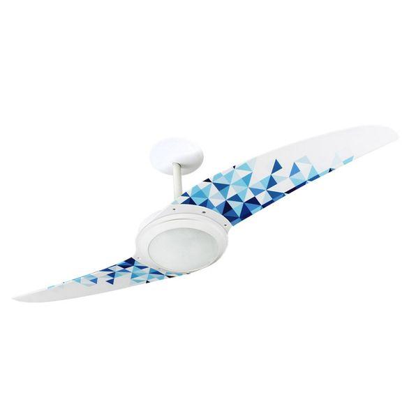 Ventilador-de-Teto-Spirit-203-Geometrico-Triangulos-Azuis-L7-Lustre-Flat