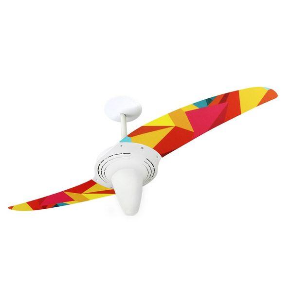 Ventilador-de-Teto-Spirit-201-Geometrico-Origami-R12-Lustre-Conico