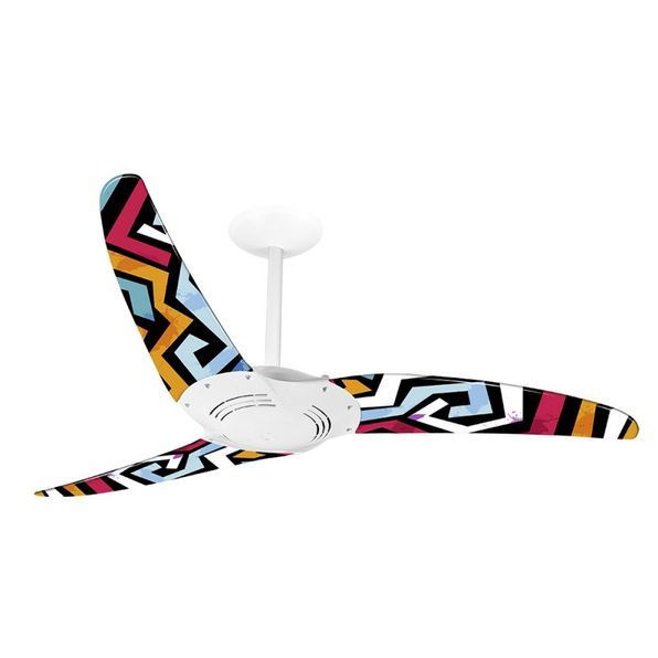 Ventilador-de-Teto-Spirit-300-Geometrico-Labirinto-R11-Sem-Lustre