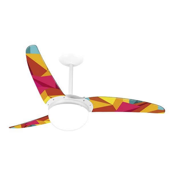Ventilador-de-Teto-Spirit-302-Geometrico-Origami-R12-Lustre-Globo