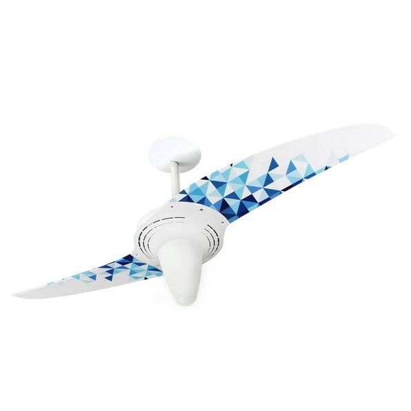 Ventilador-de-Teto-Spirit-201-Geometrico-Triangulos-Azuis-L7-Lustre-Conico