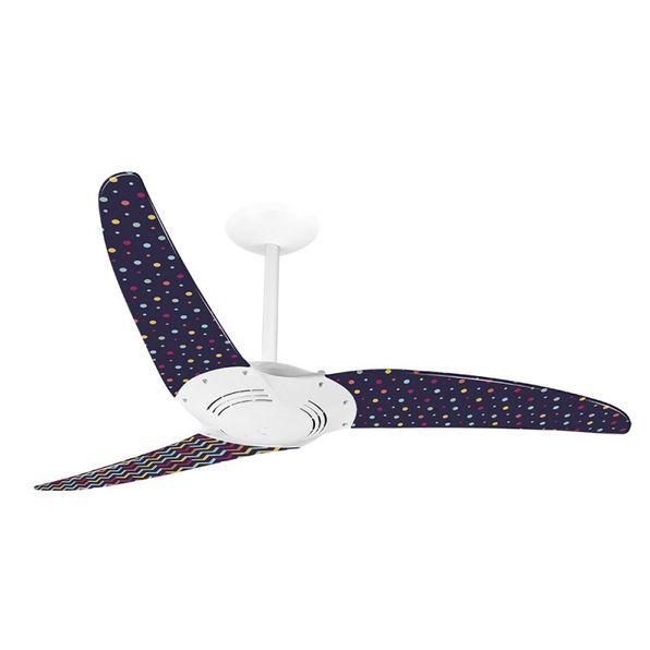 Ventilador-de-Teto-Spirit-300-Listrado-Zigzag-e-Confetes-L10-Sem-Lustre