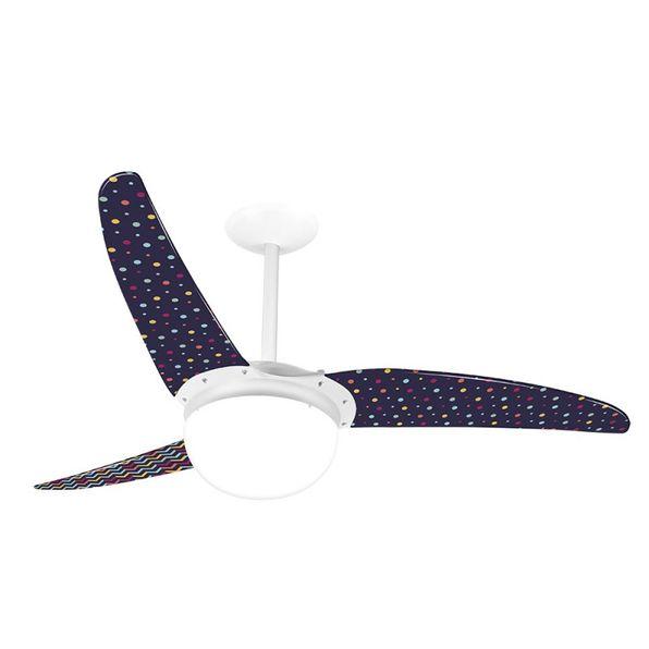 Ventilador-de-Teto-Spirit-302-Listrado-Zigzag-e-Confetes-L10-Lustre-Globo