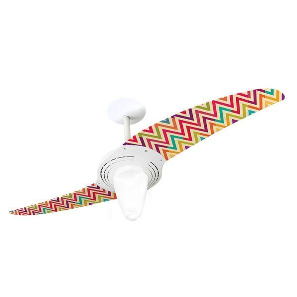 Ventilador-de-Teto-Spirit-201-Listrado-Zigzag-Colorido-WWL27-Lustre-Conico