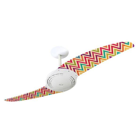 Ventilador-de-Teto-Spirit-200-Listrado-Zigzag-Colorido-WWL27-Sem-Lustre