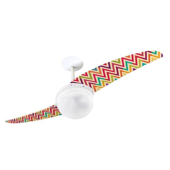 Ventilador-de-Teto-Spirit-202-Listrado-Zigzag-Colorido-WWL27-Lustre-Globo