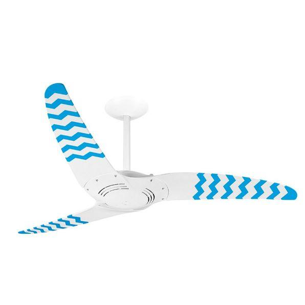 Ventilador-de-Teto-Spirit-300-Listrado-Zigzag-Azul-WWR14-Sem-Lustre
