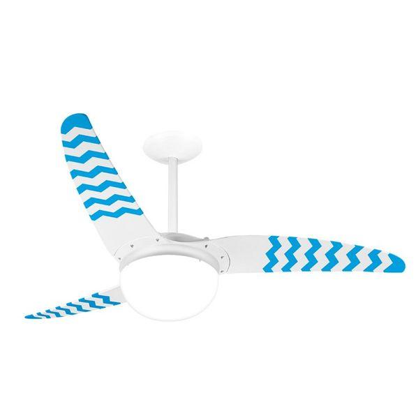 Ventilador-de-Teto-Spirit-302-Listrado-Zigzag-Azul-WWR14-Lustre-Globo