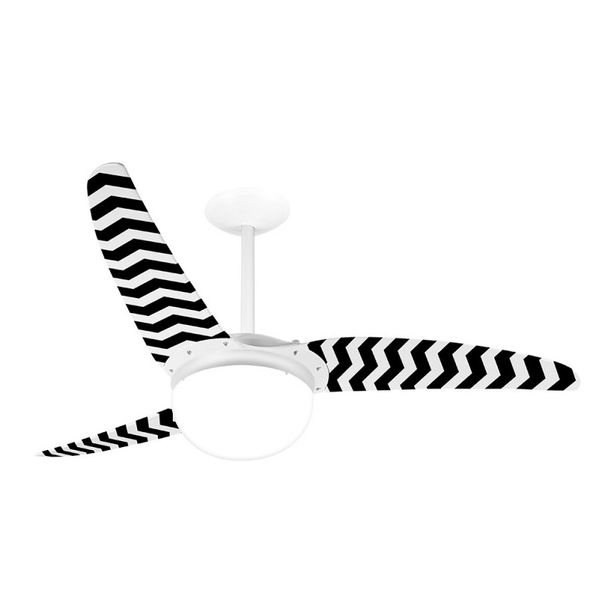 Ventilador-de-Teto-Spirit-302-Listrado-Zigzag-Preto-WWR15-Lustre-Globo