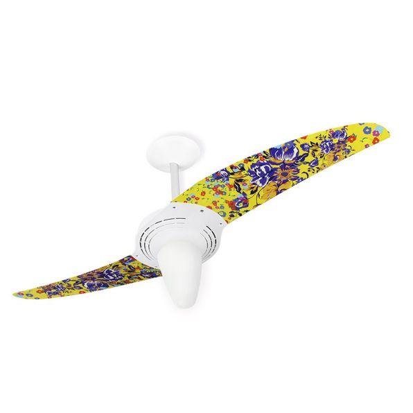 Ventilador-de-Teto-Spirit-201-Natureza-Flores-H6-Lustre-Conico