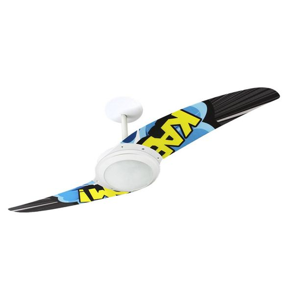 Ventilador-de-Teto-Spirit-203-Pop-e-Abstrato-Kaboom-R4-Lustre-Flat-Lustre-Flat