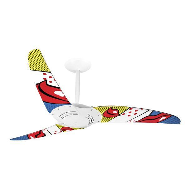 Ventilador-de-Teto-Spirit-300-Pop-e-Abstrato-Bocas-R2-Sem-Lustre-Sem-Lustre