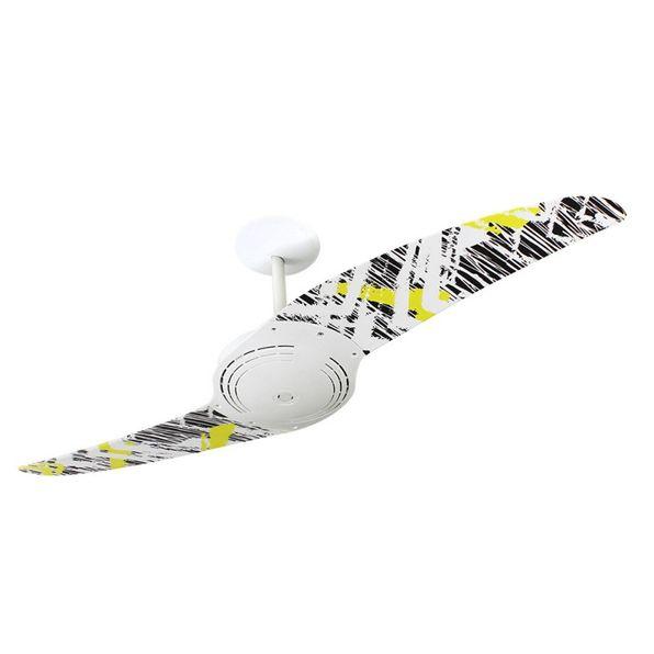 Ventilador-de-Teto-Spirit-200-Pop-e-Abstrato-Rabiscos-L13-Sem-Lustre-Sem-Lustre