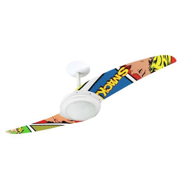 Ventilador-de-Teto-Spirit-203-Pop-e-Abstrato-Quadrinhos-R1-Lustre-Flat-Lustre-Flat