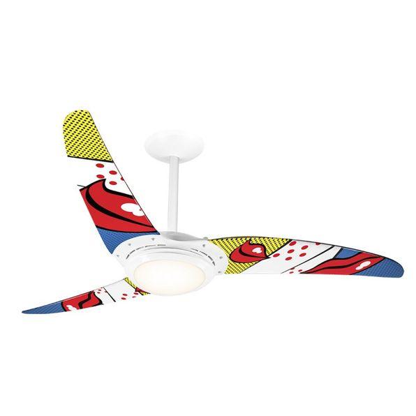 Ventilador-de-Teto-Spirit-303-Pop-e-Abstrato-Bocas-R2-Lustre-Flat-Lustre-Flat