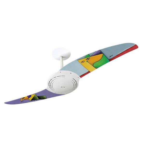 Ventilador-de-Teto-Spirit-200-Gustavo-Rosa-Papagaio-e-Gato-GR08-Sem-Lustre