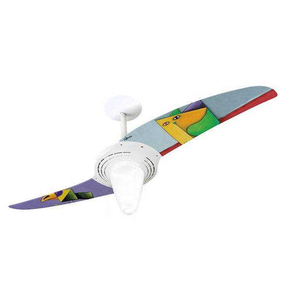 Ventilador-de-Teto-Spirit-201-Gustavo-Rosa-Papagaio-e-Gato-GR08-Lustre-Conico