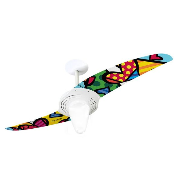 Ventilador-de-Teto-Spirit-201-Romero-Britto-A-New-Day-RB06-Lustre-Conico