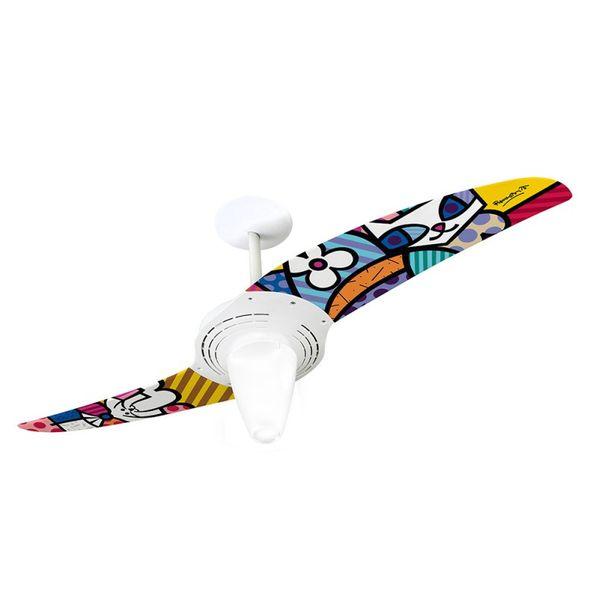 Ventilador-de-Teto-Spirit-201-Romero-Britto-Sammy-Cat-e-La-Dog-RB08-Lustre-Conico