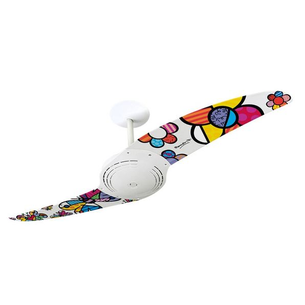 Ventilador-de-Teto-Spirit-200-Romero-Britto-Flower-Power-e-Butterfly-RB04-Sem-Lustre