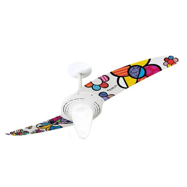Ventilador-de-Teto-Spirit-201-Romero-Britto-Flower-Power-e-Butterfly-RB04-Lustre-Conico