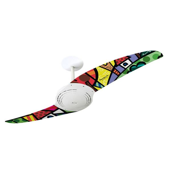 Ventilador-de-Teto-Spirit-200-Romero-Britto-A-Perfect-Day-RB07-Sem-Lustre
