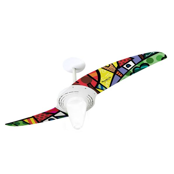 Ventilador-de-Teto-Spirit-201-Romero-Britto-A-Perfect-Day-RB07-Lustre-Conico