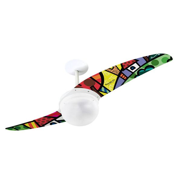 Ventilador-de-Teto-Spirit-202-Romero-Britto-A-Perfect-Day-RB07-Lustre-Globo