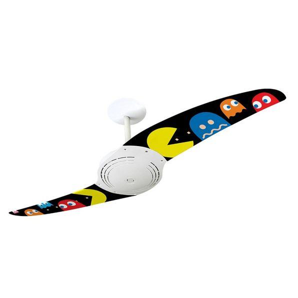 Ventilador-de-Teto-Spirit-200-Pac-Man-Fantasmas-Coloridos-PM07-Sem-Lustre