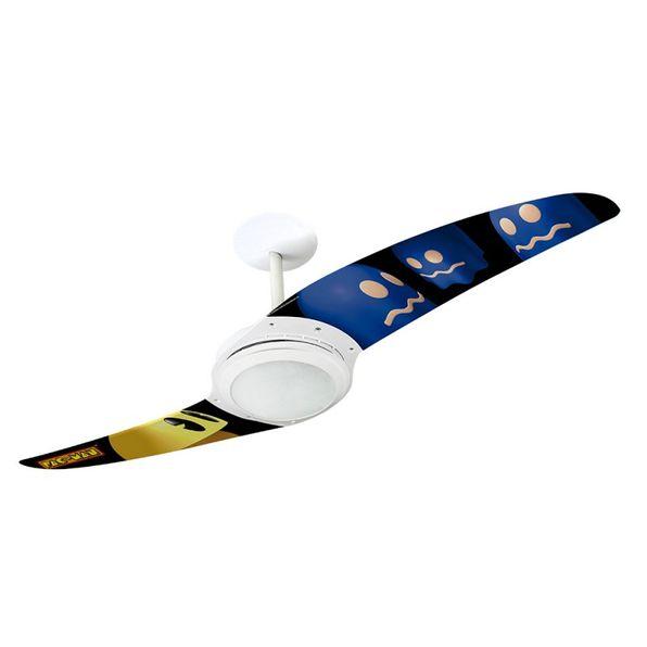 Ventilador-de-Teto-Spirit-203-Pac-Man-Fantasma-Azul-PM02-Lustre-Flat