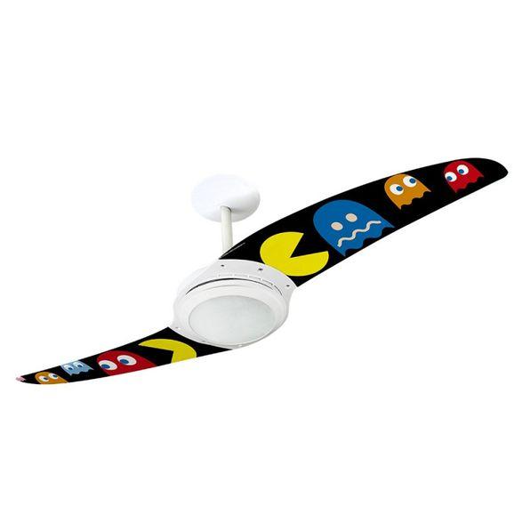 Ventilador-de-Teto-Spirit-203-Pac-Man-Fantasmas-Coloridos-PM07-Lustre-Flat