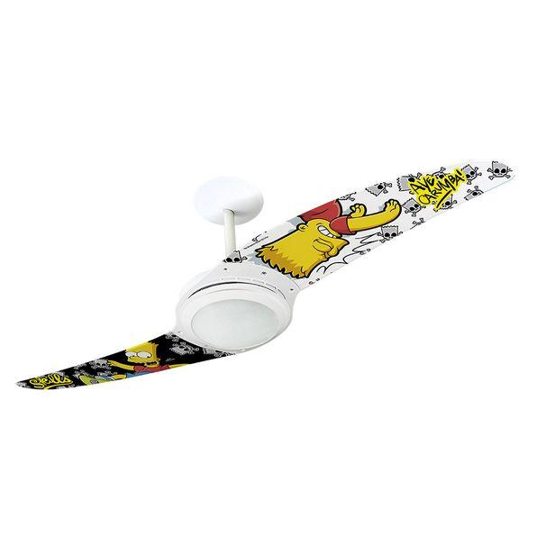 Ventilador-de-Teto-Spirit-203-Os-Simpsons-Bart-Skatista-TS16-Lustre-Flat