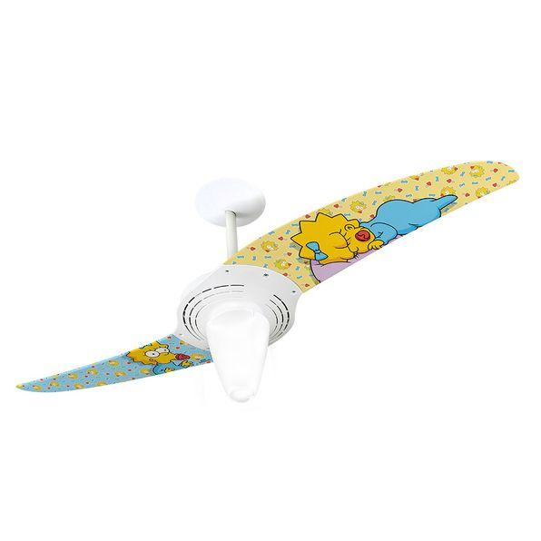 Ventilador-de-Teto-Spirit-201-Os-Simpsons-Bebe-Maggie-Dormindo-TS07-Lustre-Conico