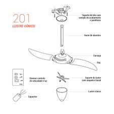 Pecas-para-Reposicao-Ventilador-de-Teto-Spirit-Modelo-201-Tangerina