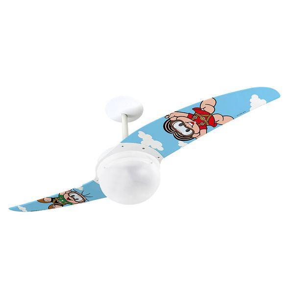 Ventilador-de-Teto-Spirit-202-Turma-da-Monica-Monica-Paraquedista-TM08-Lustre-Globo
