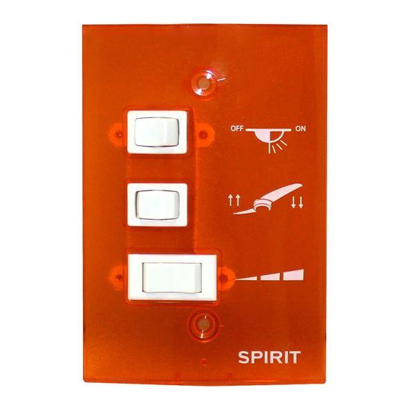 Controle-de-Parede-Ventilador-de-Teto-Spirit-Tangerina
